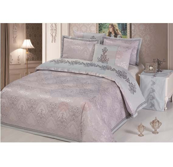 Senoures 100% Cotton Jacquard Quilt Cover 6Pcs Set King - SEJ-034