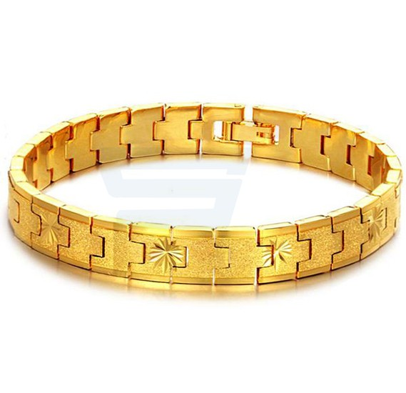 18k Real Gold Plated Italian Design Exquisite Crafted Bracelet For Men