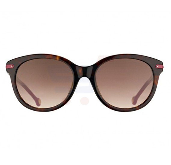 Carolina Herrera Oval Yellow Hvana Frame & Brown Mirrored Sunglasses For Women - SHE602-0743