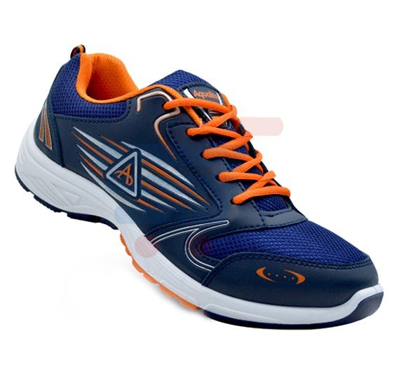 Aqualite J-54 Sports Wear Shoes For Men Size UK-9 Navy Blue/Orange