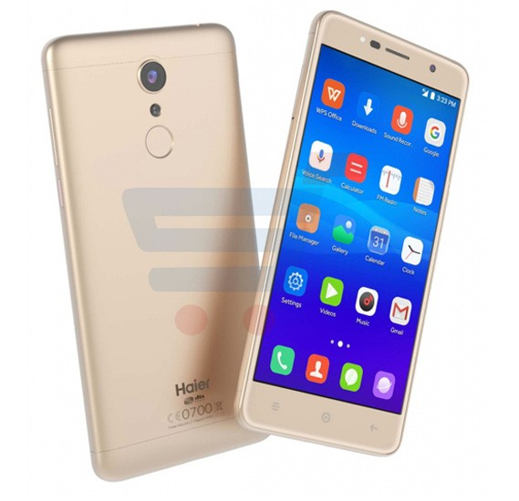 Haier Ginger G7-S 4G Smart Phone, 5 Inch Display, 1GB RAM, 16GB ROM,  Android 6 OS, Dual SIM, Dual Camera - Gold