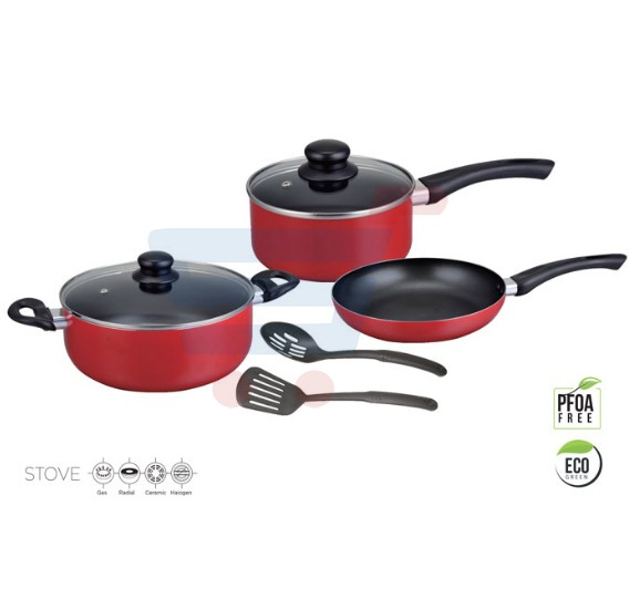 Royalford 7Pc Caliber Nonstick Cookware Set - RF8248