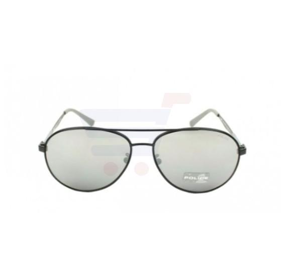 Police Aviator Matt Black Frame & Grey With Silver Mirror Effect Mirrored Sunglasses For Men - SPL344-531X