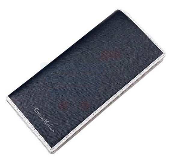 Curewe Kerien Blue Leather Wallet For Unisex , Card And ID Cases