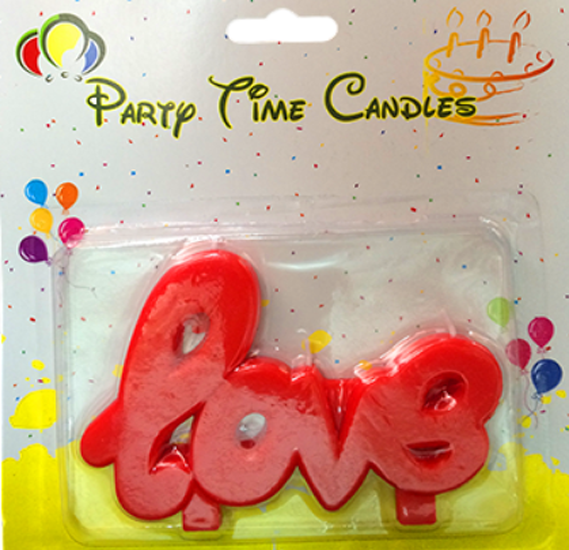 Party Time Love Red Candle G249