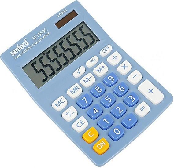 Sanford SF1553C-8D 8 Digit Dual Power Calculator