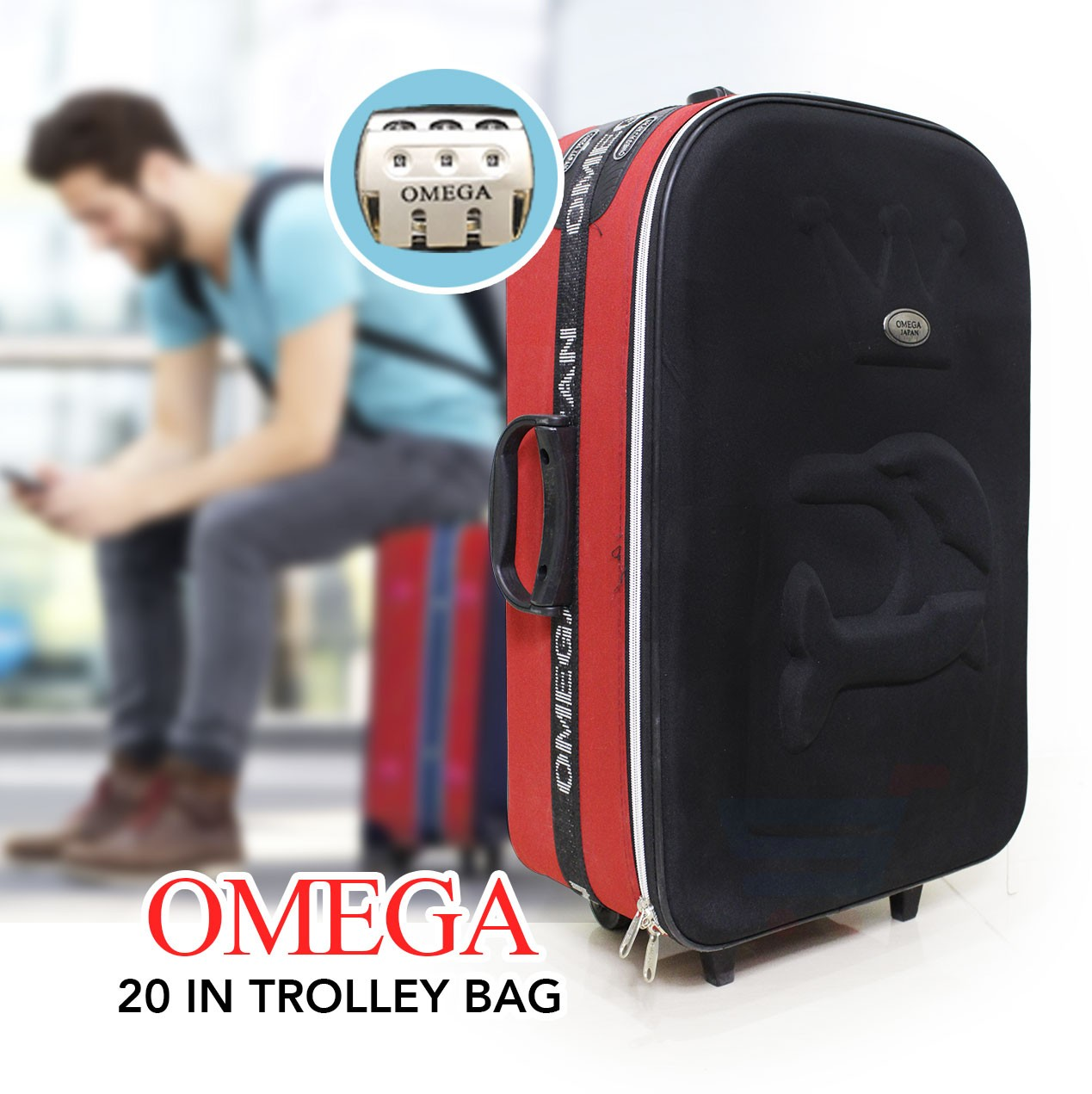 Omega 20 inch Trolley Black