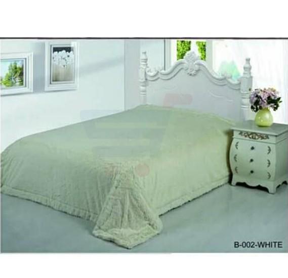 Senoures Classic Blanket Double 220X240CM - B-002 White