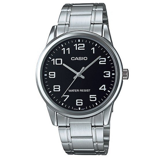 Casio Stainless Steel Casual Watch For Men Silver Black,  MTP-V001D-1BUDF