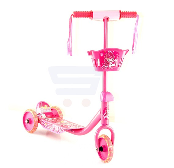 Kids Kick 3 Wheel Scooter with Light Assorted Color
