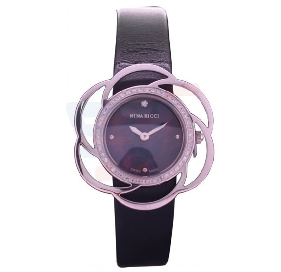 Nina Ricci Stainless Steel Case Genuine Leather Strap Analog Ladies Watch - NO73015SM