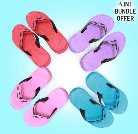 4 IN 1 Ladies Fashion Footwear, Assorted Colors, Size 5