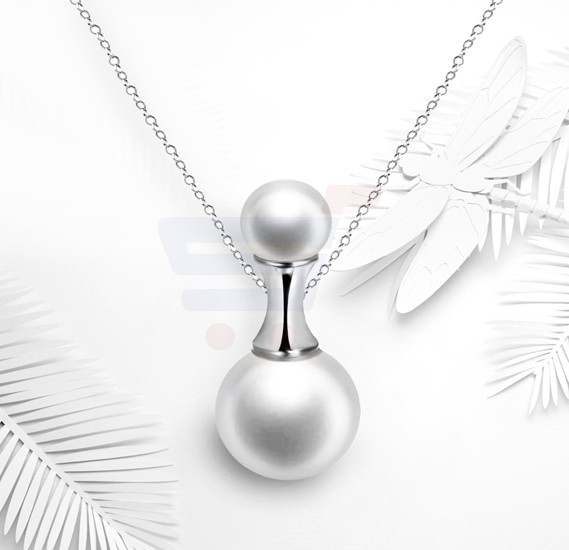 Tiara Elements Imitation Pearl White Gold Plated Neckalce - UN0220B