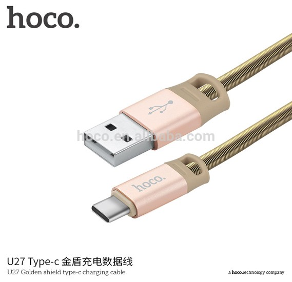 Hoco U27 Golden shield type-c charging cable(L=1M) - GOLD