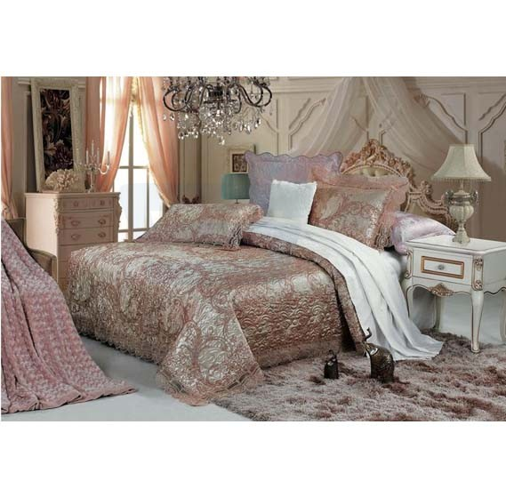 Senoures Blue Marine Jacquard Bed Spread 3Pcs Set Double - SBJ-027