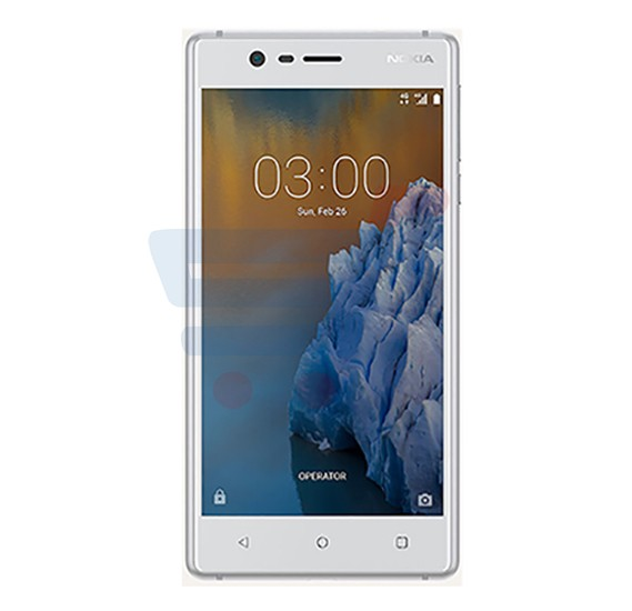 Nokia 3 White Android Phone, 5.0 Inch Display, 2GB RAM, 16GB Storage, Dual Camera, Dual Sim, Wifi