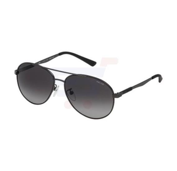 Police Aviator Grey Frame & Grey Gradient Mirrored Sunglasses For Unisex - SPL344-08H5