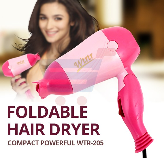 Foldable Hair Dryer Cyber Wtrtr 700 Watts, Compact Powerful WTR-205