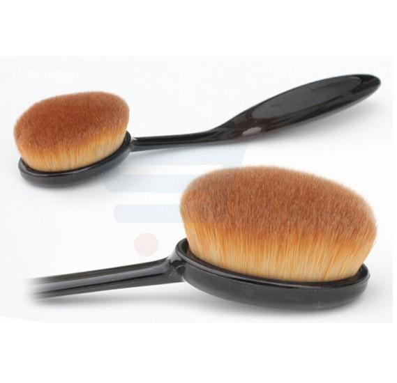 2 Set of Oval Makeup Brush Foundation
