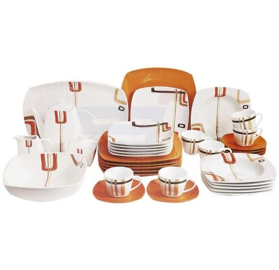 Flamingo Porcelain Square Type Dinner Set 37 PCS - FL7707PDS