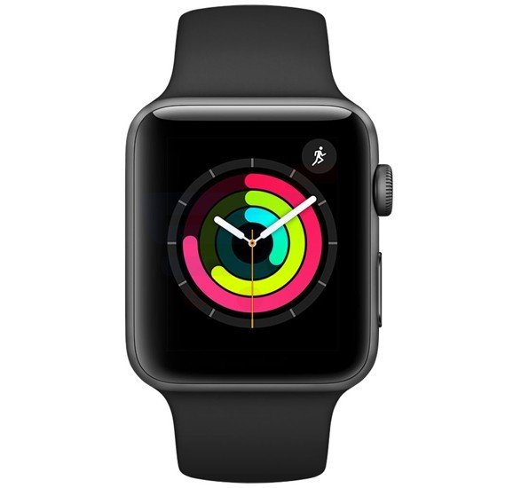 Apple Watch Series 3-38MM MQKV2  Black Gray