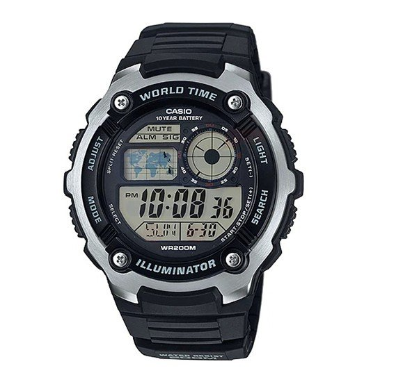 Casio Digital Watch Unisex  - AE-2100W-1AV