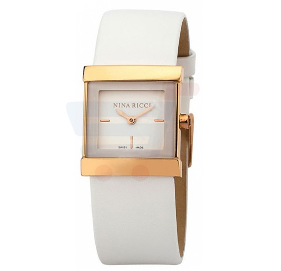 Nina Ricci White Dial Stainless Steel Case Watch For Women - N NR040003