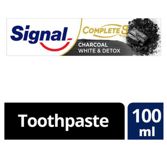 Signal Complete 8 Charcoal Toothpaste White & Detox 100ml