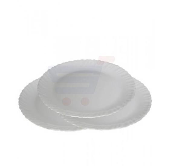 Flamingo Opal Ware White Flat Plate 10.5 Inch - FL7300OW