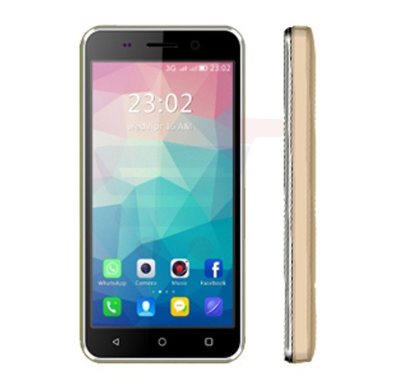 Enes G1 3G Smart Phone Android 4.4, 1GB RAM, 8GB Storage,4 inches Display, Dual Sim, Dual Camera - Gold