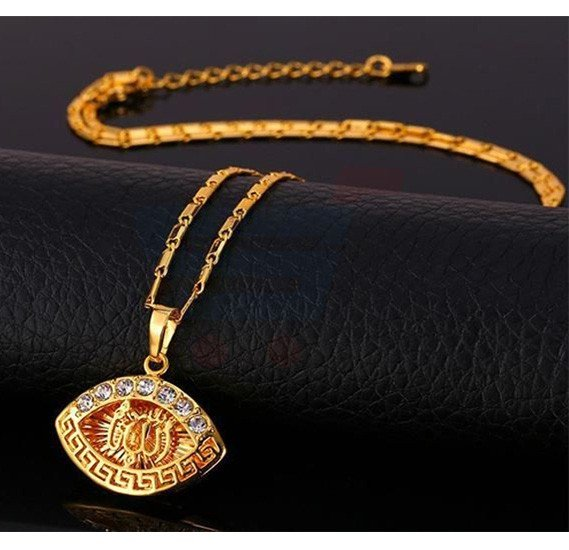 18k Gold Plated Cubic Zircon Necklace set For Unisex