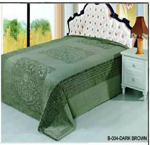 Senoures Classic Blanket Double 220X240CM - B-004 Dark Brown