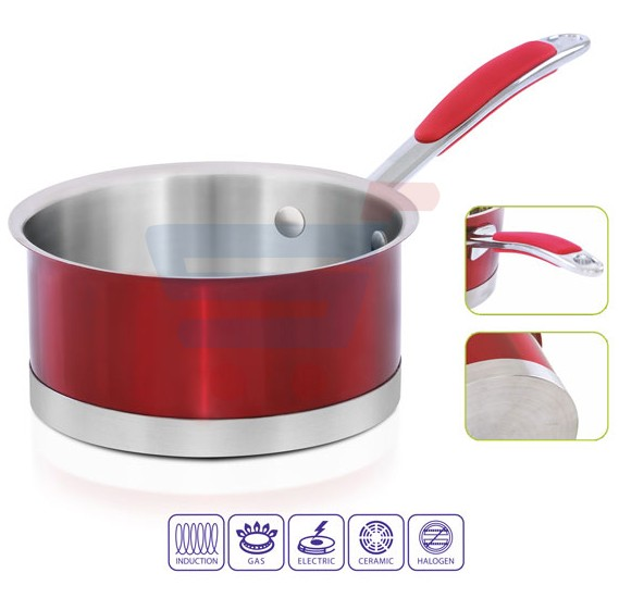 Royalford S/S Induction Sauce Pan/12x6CM - RF7413