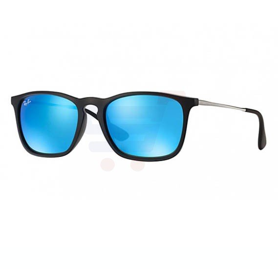 Ray-Ban Square Blue Frame & Blue Mirrored Sunglasses For Unisex - RB4187-601-55-54
