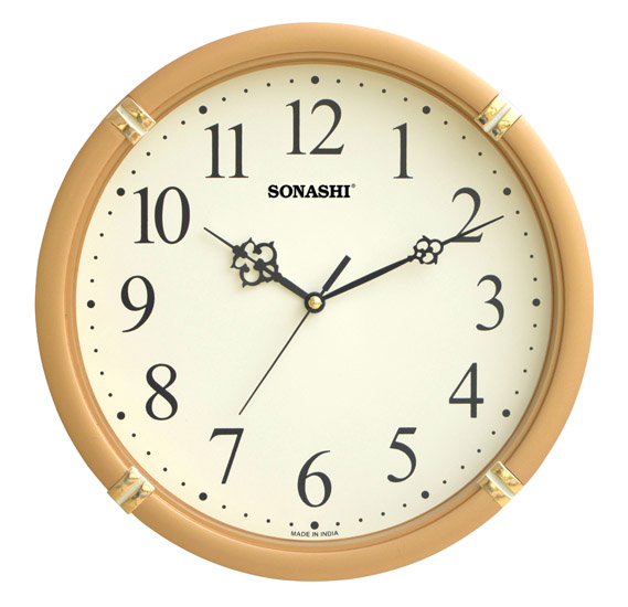 Sonashi Wall Clock (Golden), SWC-810