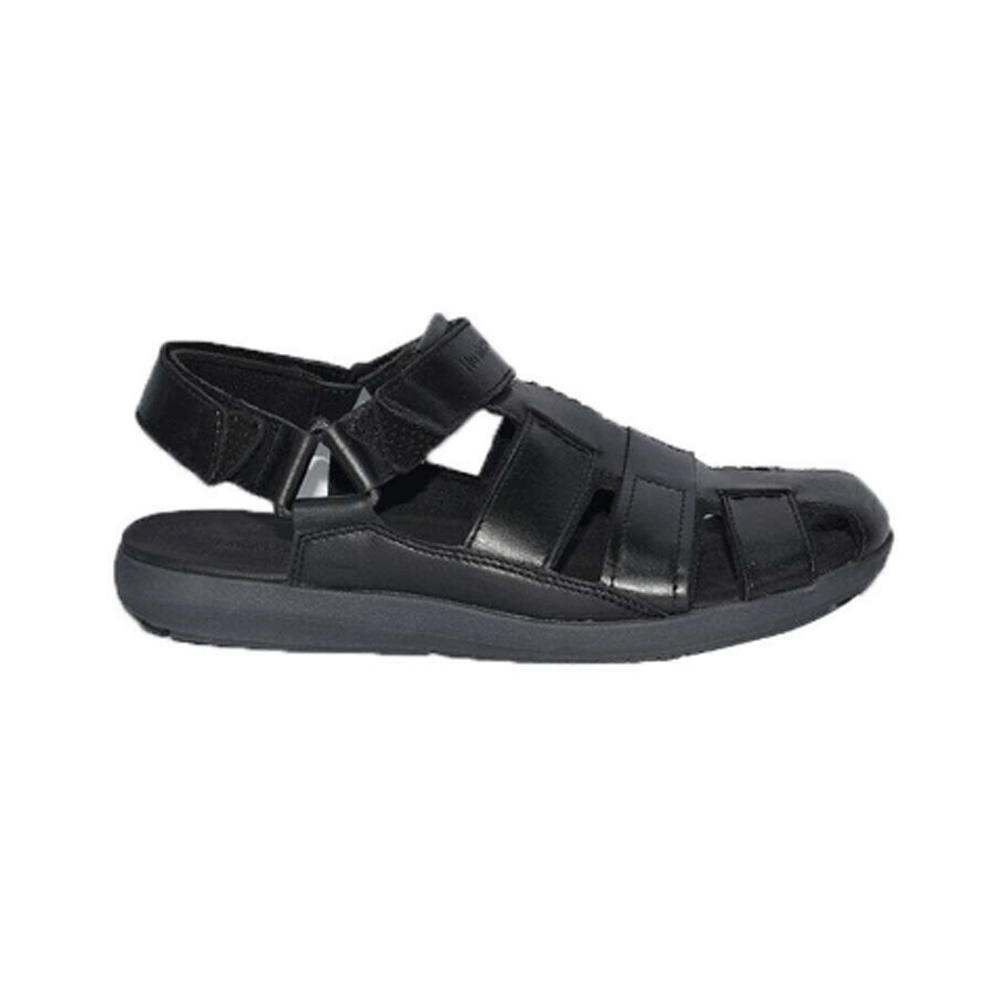 Hush Puppies Mens Sandals Black Leather, Size 7, HM01823-007