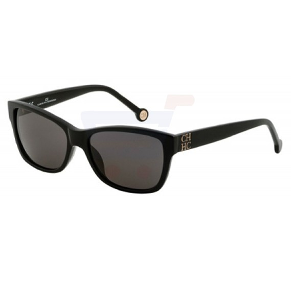 Carolina Herrera Oval Black Frame & Black Mirrored Sunglasses For Women - SHE547-0700