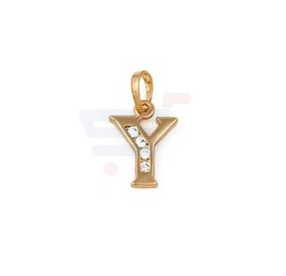 Xuping Necklace Pendant Gold Plated Letter  Y