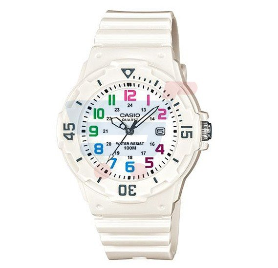 Casio Analog Watch For Women, White Resin Band-LRW-200H-7BVDF (CN)