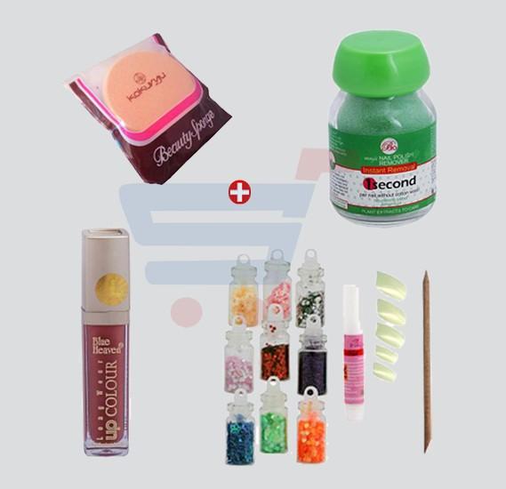 Buy Combo Offer! Beauty Spongue Kokurya + Blue Heaven Long Wear Lip ...