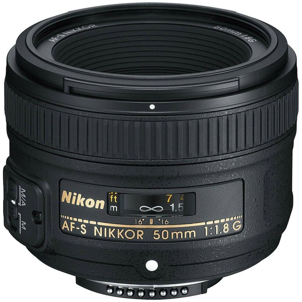 Nikon AF-S FX Nikkor 50mm f/1.8G Auto Focus Lens for Nikon DSLR Cameras, Black