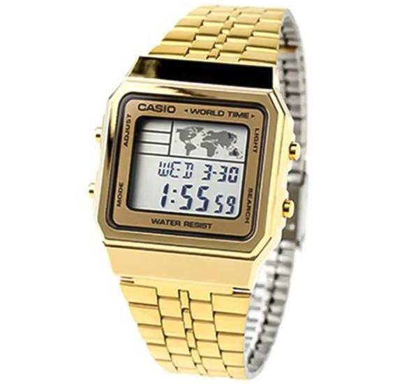 Casio Unisex Casual Digital Watch Gold, A-500WG-9DF