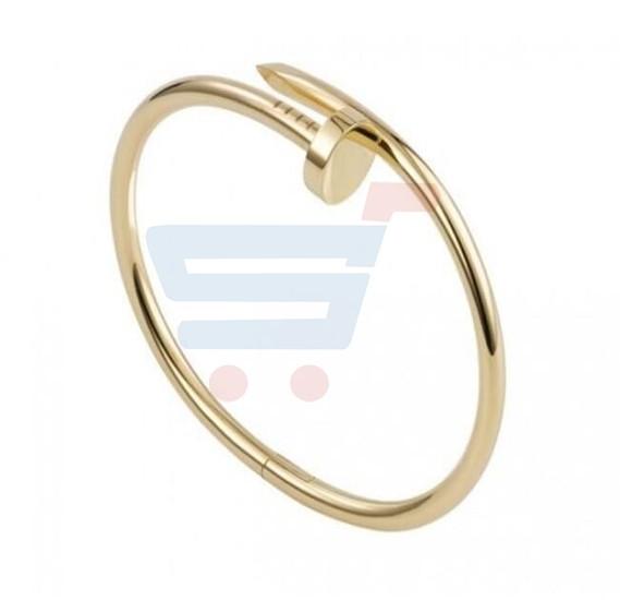 Gold Plated love Bangle screw Nail Design Bracelet for Women