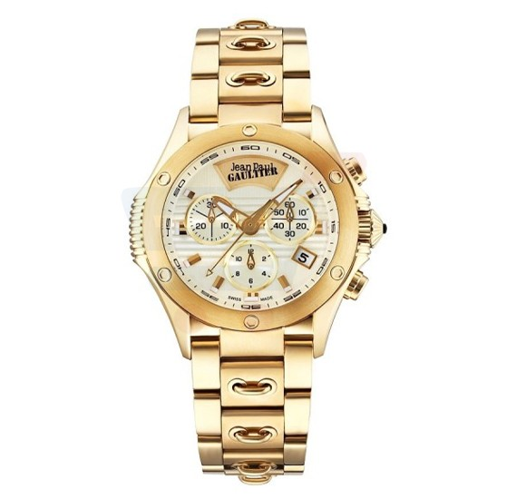 Jean Paul Gaultier Swiss Made  Women Gold Watch - JPG0103009
