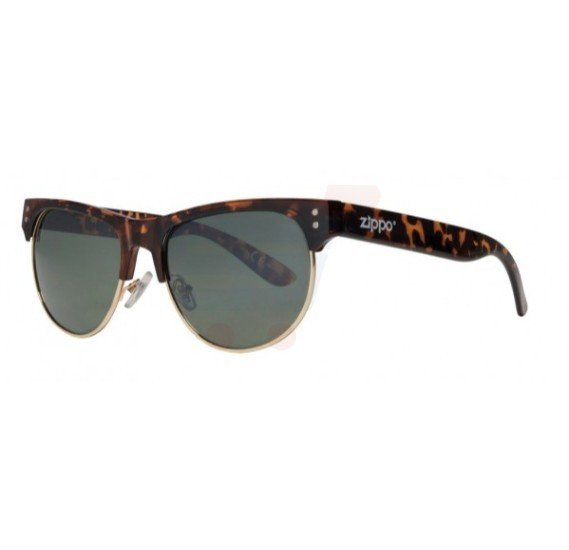 Zippo Classic Semi Rimless Sunglasses Smoke Flash - OB16-02