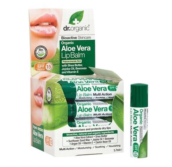 Dr. Organic Aloe Vera Lip Balm,HC1159