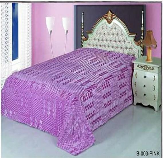 Senoures Classic Blanket Double 220X240CM - B-003 Pink