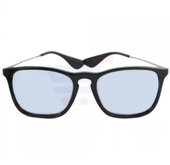 Ray-Ban Rectangular Black Frame & Silver Mirrored Sunglasses For Unisex - RB4187-601-30-54