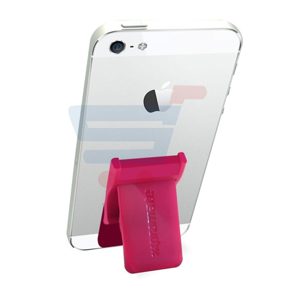 Promate Universal Smartphones Grip Mate Secure Finger Grip and Kick Stand, GRIPMATE.PINK