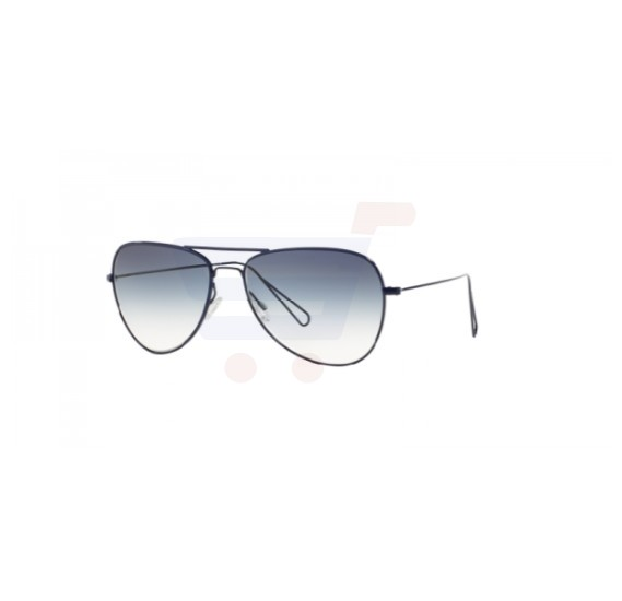 Oliver Peoples Aviator Navy Blue Frame & Teal Gradient Mirrored Sunglasses For Woman - OV1156S-524379